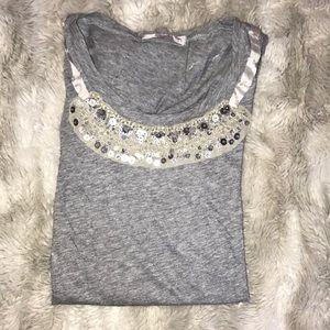 J-Crew grey t-shirt